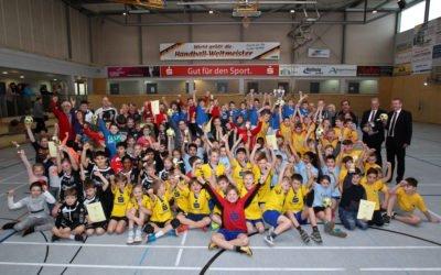 Rekordteilnahme bei Handballturnier der Grundschulen